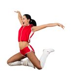 Athletic young woman jumping Stock Photos