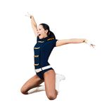 Athletic young woman jumping Royalty Free Stock Photo