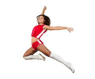 Athletic young woman jumping Stock Image