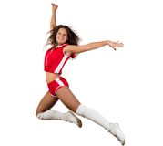 Athletic young woman jumping Royalty Free Stock Photography