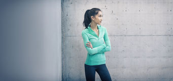 Athletic young woman looking to side Royalty Free Stock Image
