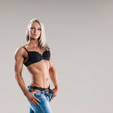 Athletic young woman Royalty Free Stock Photos