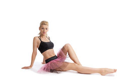 Athletic young woman posing in dance sport costume Stock Photography