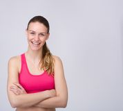 Athletic young woman smiling Stock Photography