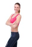 Athletic young woman smiling Stock Photos