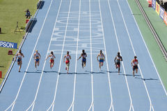 Athletics 100 meters Royalty Free Stock Image