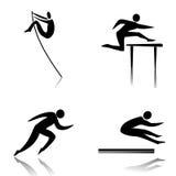 Athletics. Profiles of athletes athletics discipline Royalty Free Stock Photo