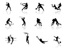 Athletics. Olympic Games in Black and white royalty free illustration