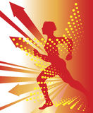Athletics. Abstract sport background   with  runners Royalty Free Stock Images