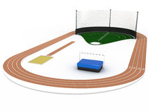 Athletics arena  �2 Royalty Free Stock Image