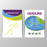 Athletics brochure design summer games Royalty Free Stock Image
