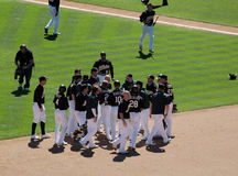 Athletics Celebrate big win Royalty Free Stock Photo