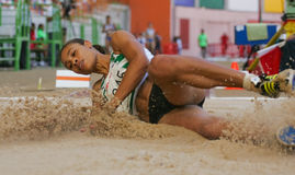 Athletics Championship, Naide Gomes Royalty Free Stock Photos