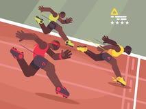 Athletics competition sprint stock illustration