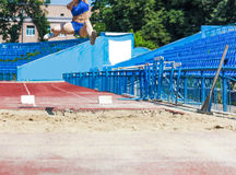 Athletics competitions in long jump Stock Images