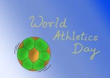 Caption for world athletics day royalty free illustration