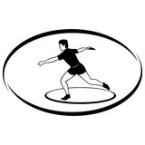 Athletics. Discus throwing Royalty Free Stock Images