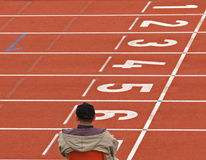 Athletics / Empty Tracks Stock Photography
