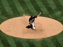 Athletics Gio Gonzalez steps to throw pitch Royalty Free Stock Photography