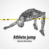Athletics, high jump, competition Stock Photos