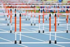 Athletics Hurdles Royalty Free Stock Photography