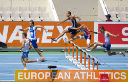 Athletics Hurdles Stock Photo
