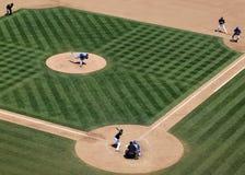 Athletics Kurt Suzuki waits on incoming pitch from Royals Sean O Royalty Free Stock Photo
