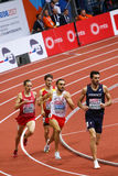 Athletics - 400m Man. BELGRADE, SERBIA - MARCH 3-5, 2017: 400m Man Round 1, European Athletics Indoor Championships in Belgrade, Serbia Royalty Free Stock Photo