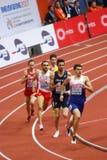 Athletics - 400m Man. BELGRADE, SERBIA - MARCH 3-5, 2017: 400m Man Round 1, European Athletics Indoor Championships in Belgrade, Serbia Stock Photo