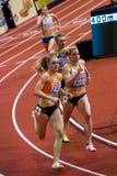 Athletics - 400m Woman. BELGRADE, SERBIA - MARCH 3-5, 2017: 400m Woman Round 1, European Athletics Indoor Championships in Belgrade, Serbia Stock Image
