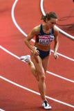 Athletics - 400m Woman - SALASKI Tamara. BELGRADE, SERBIA - MARCH 3-5, 2017: 400m SALASKI Tamara Woman Round 1, European Athletics Indoor Championships in Royalty Free Stock Photo