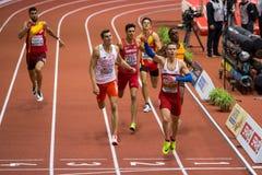 Athletics - Man 400m, MASLAK Pavel. BELGRADE, SERBIA - MARCH 3-5, 2017: Man 400m, MASLAK Pavel, European Athletics Indoor Championships in Belgrade, Serbia Royalty Free Stock Images
