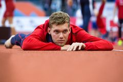 Athletics - MAYER Kevin; Man Heptathlon, Decathlon Stock Image