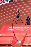 Athletics - Mihail Dudas; Man Heptathlon, Pole Vault Stock Photography