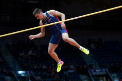 Athletics - Mihail Dudas; Man Heptathlon, Pole Vault Royalty Free Stock Photography