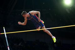 Athletics - Mihail Dudas; Man Heptathlon, Pole Vault Royalty Free Stock Image