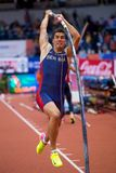 Athletics - Mihail Dudas; Man Heptathlon, Pole Vault Royalty Free Stock Photo