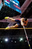 Athletics - Mihail Dudas; Man Heptathlon, Pole Vault Royalty Free Stock Images