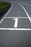 Athletics number 1 track Stock Photo