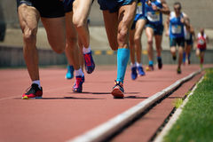 Athletics people running Royalty Free Stock Photography