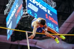 Athletics - Pole Vault man, FILIPPIDIS Konstadinos Royalty Free Stock Photo