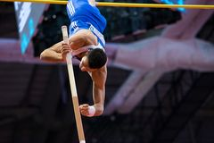 Athletics - Pole Vault man, FILIPPIDIS Konstadinos Royalty Free Stock Image