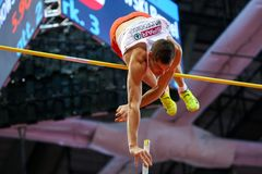 Athletics - Pole Vault man, WOJCIECHOWSKI Pawel Royalty Free Stock Photography