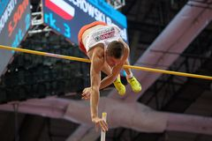 Athletics - Pole Vault man, WOJCIECHOWSKI Pawel Royalty Free Stock Photos