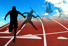 Athletics poster. Poster for athletes and competition Stock Images