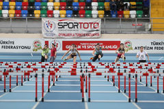 Athletics record attempt races Royalty Free Stock Image