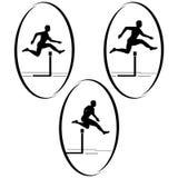 Athletics. Running hurdles Stock Image