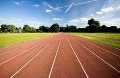 Athletics running track Stock Photography