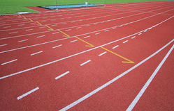 Athletics runway Royalty Free Stock Image