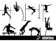 Athletics silhouettes Stock Photo